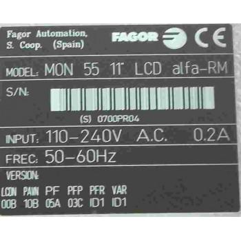 """Pupitre FAGOR MON-55TC 11"""" LCD"""